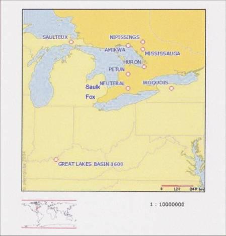 Great Lakes Basin 1600